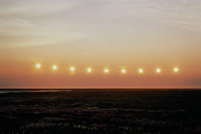 Midnight Sun, Summer Solstice (Multiple Exposure) by Tom Walker
