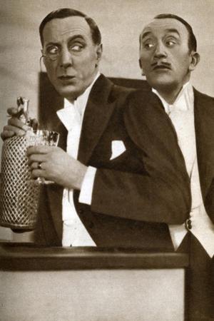 Tom Walls and Ralph Lynn, English Actors, 1933