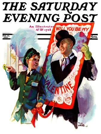 """""""Giant Valentine,"""" Saturday Evening Post Cover, February 13, 1937"""