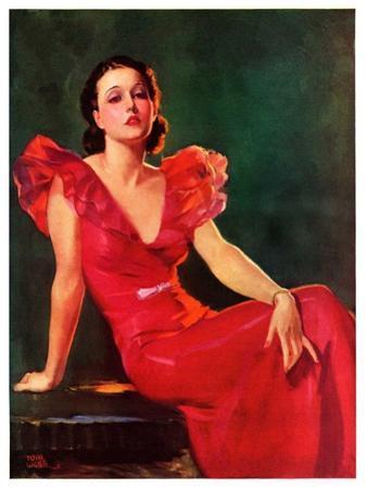 """Low-Cut Red Dress,""January 20, 1934"