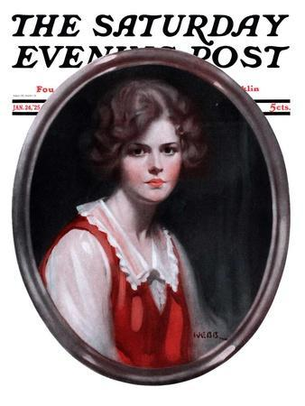 """""""Oval Portrait,"""" Saturday Evening Post Cover, January 24, 1925"""