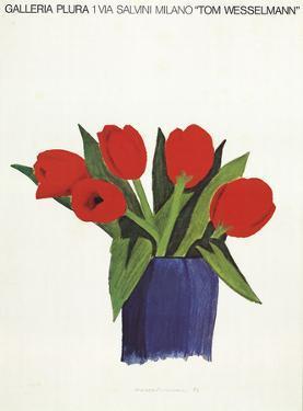 Tulips in a vase by Tom Wesselmann