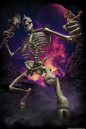 Cyclops Skeleton by Tom Wood Poster by Tom Wood