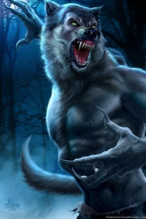 Werewolf by Tom Wood Plastic Sign by Tom Wood