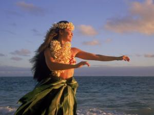 Hawaiian Hula at Sunrise, HI by Tomas del Amo