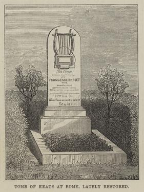Tomb of Keats at Rome, Lately Restored