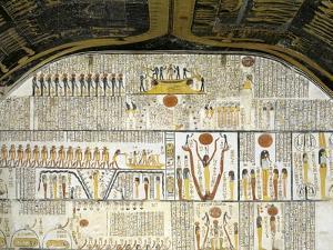 Tomb of Ramses VI, Mural Paintings of Ra in Solar Bark