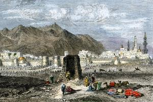 Tomb of the Prophet Muhammad, Medina, Arabia, 1800s