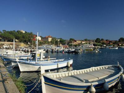Harbour, Ile De Porquerolles, Near Hyeres, Var, Cote D'Azur, Provence, France, Mediterranean by Tomlinson Ruth