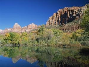 Lake Near the Zion National Park, Springdale, Utah, USA by Tomlinson Ruth