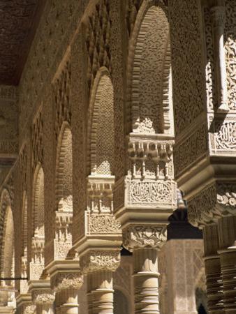Patio De Los Leones, Palacio Nazaries, Alhambra, Granada, Andalucia, Spain