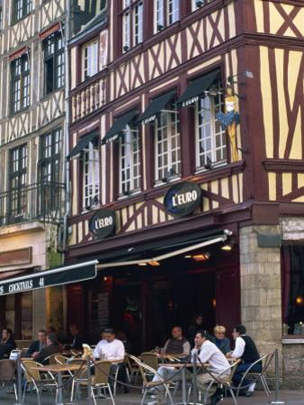 Restaurant and Bar in the Place Du Vieux Marche, Rouen, Seine-Maritime, Haute Normandie, France