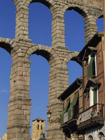 Section of the Roman Aqueduct at Segovia, UNESCO World Heritage Site, Castilla Y Leon, Spain
