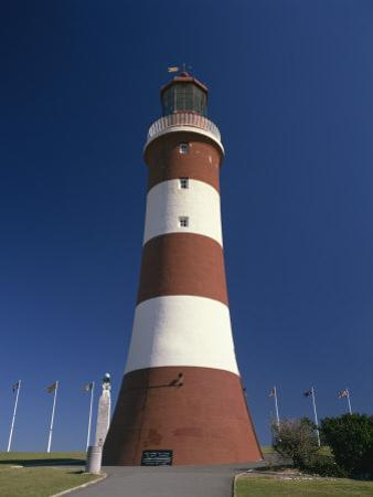 Smeatons Tower Lighthouse on the Hoe in Plymouth, Devon, England, United Kingdom, Europe