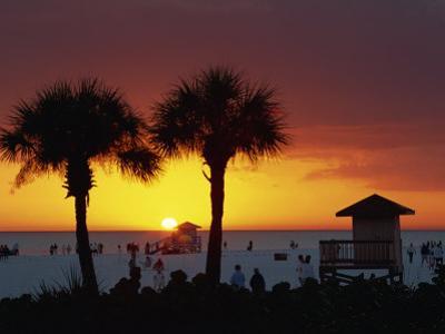 Sunset from Siesta Beach, Siesta Key, Sarasota, Florida, United States of America, North America