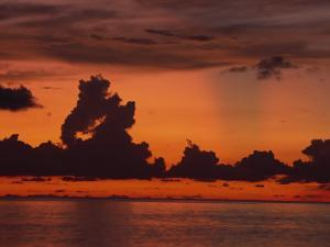 Tropical Sunset Off Seven Mile Beach, Cayman Islands, West Indies, Central America by Tomlinson Ruth