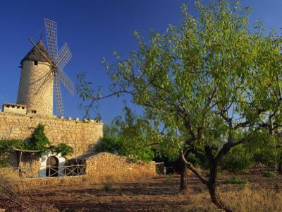 Typical Agricultural Windmill, Mallorca, Balearic Islands, Spain, Europe