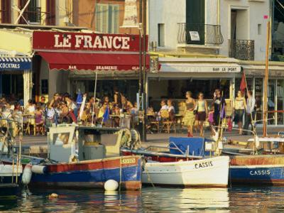 View across the Harbour in the Evening, Cassis, Bouches-Du-Rhone, Cote D'Azur, Provence, France