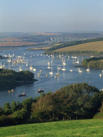View over the Kingsbridge Estuary from East Portlemouth, Salcombe, Devon, England, United Kingdom