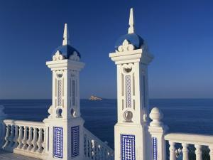 View to Benidorm Island from the Balcon Del Mediterraneo, Alicante, Valencia, Spain, Europe by Tomlinson Ruth