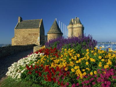 View Towards the Solidor Tower in St. Servan, St. Malo, Ille-et-Vilaine, Brittany, France, Europe