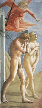 Expulsion from the Garden of Eden by Tommaso Masaccio