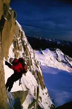A Mountaineer Climbs Mount Fitz Roy by Tommy Heinrich