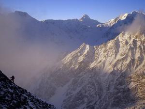 Climber on a Steep Ridge of Nanga Parbat by Tommy Heinrich