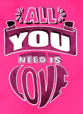 All You Need Is Love - Tommy Human Cartoon Print by Tommy Human