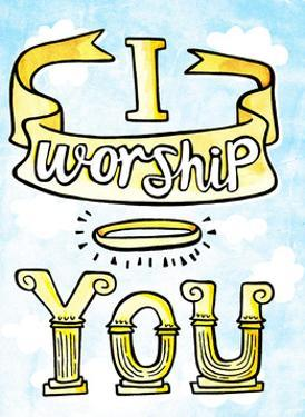 I Worship You - Tommy Human Cartoon Print by Tommy Human