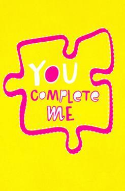 You Complete Me Puzzle - Tommy Human Cartoon Print by Tommy Human