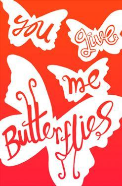 You Give Me Butterflies - Tommy Human Cartoon Print by Tommy Human