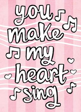You Make My Heart Sing - Tommy Human Cartoon Print by Tommy Human