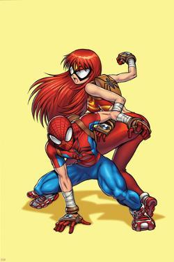 New Mangaverse No.1 Cover: Spider-Man, and Mary Jane Watson by Tommy Ohtsuka