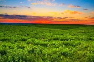 Sunset over the Kansas Flint Hills by tomofbluesprings