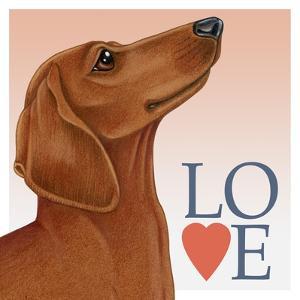 Dachshund Love by Tomoyo Pitcher