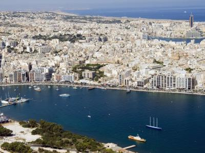 Aerial View of Sliema, Malta, Mediterranean, Europe by Tondini Nico