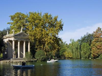 Aesculapius Temple, Lake in Villa Giulia Garden, Rome, Lazio, Italy, Europe by Tondini Nico