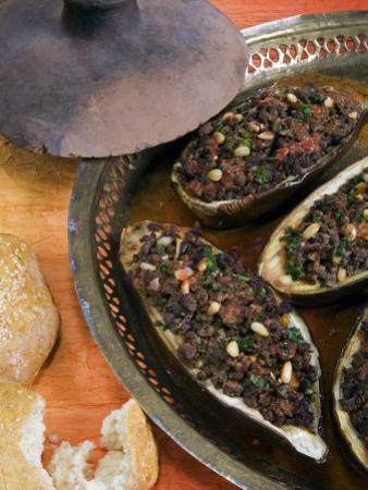 Arabic Food, Stuffed Aubergines, Middle East by Tondini Nico