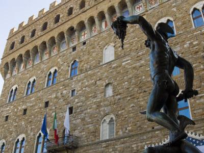 Benvenuto Cellini's Perseus, Loggia Dei Lanzi, Florence, Tuscany, Italy by Tondini Nico