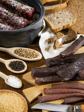 Biltong, Dried and Salted Meat from South Africa, Africa by Tondini Nico