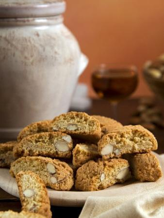 Cantuccini, Tuscan Biscuits with Hazelnuts and Almonds, Tuscany, Italy, Europe by Tondini Nico
