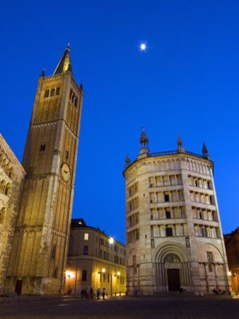 Duomo and the Baptistry, Parma, Emilia Romagna, Italy, Europe by Tondini Nico