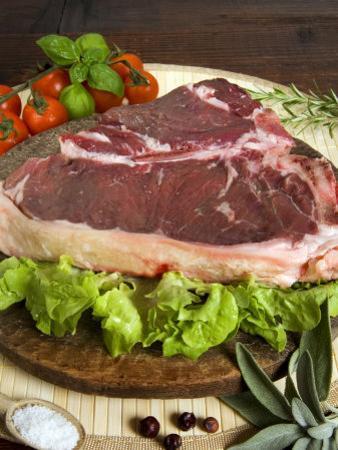 Florentine Steak, Tuscany, Italy, Europe by Tondini Nico