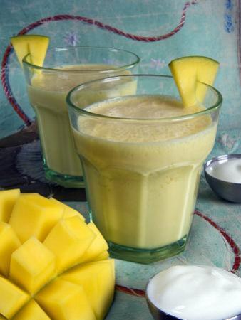 Indian Food, Lassi, Mango Juice, India by Tondini Nico
