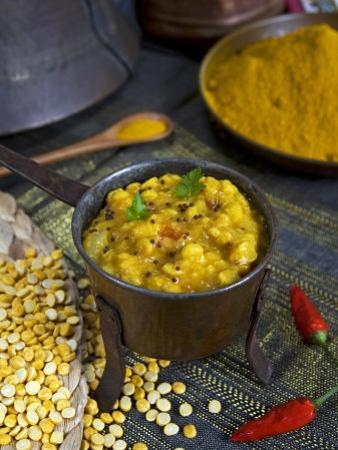 Indian Food, Pan of Dhal, India by Tondini Nico