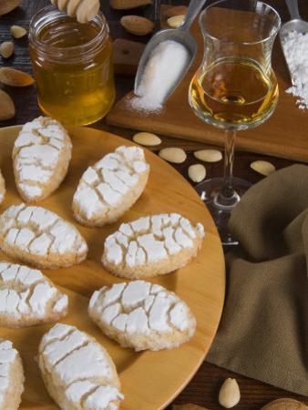 Italian Cakes, Ricciarelli of Siena, Tuscany, Italy, Europe by Tondini Nico