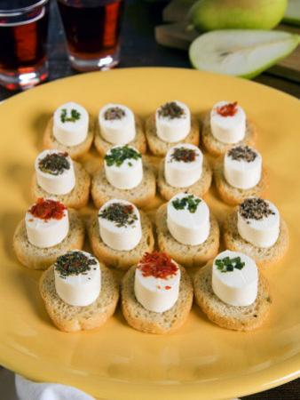 Italian Starters with Cheese and Pot Herbs, Italy, Europe by Tondini Nico