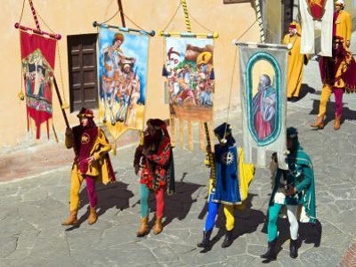 Medieval Parade of Giostra Del Saracino, Arezzo, Tuscany, Italy, Europe by Tondini Nico