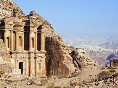 Monastery, Petra, UNESCO World Heritage Site, Jordan, Middle East